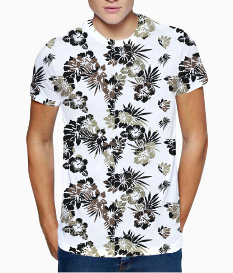 Tropical art t shirt front