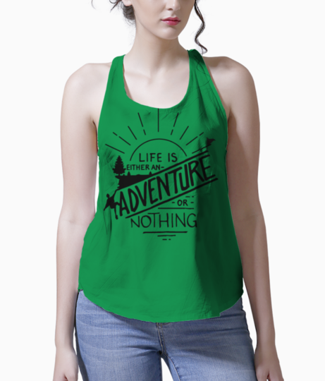 Adventure lover tank front