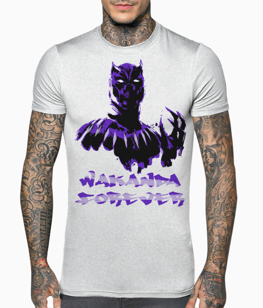 B panther wakanda forever t shirt front