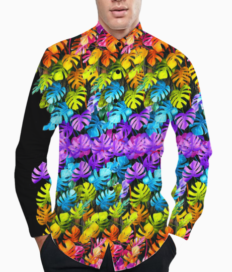Rainbow leaves 2 basic shirt front