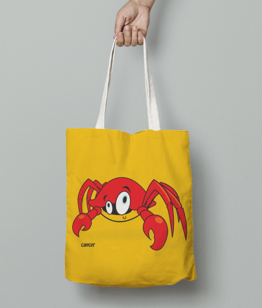 Cancer tote bag front