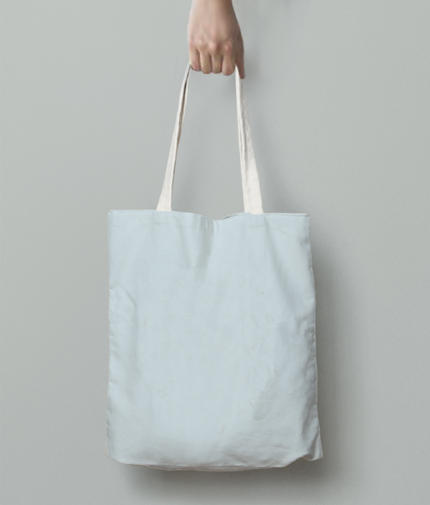 Aquarius tote bag back