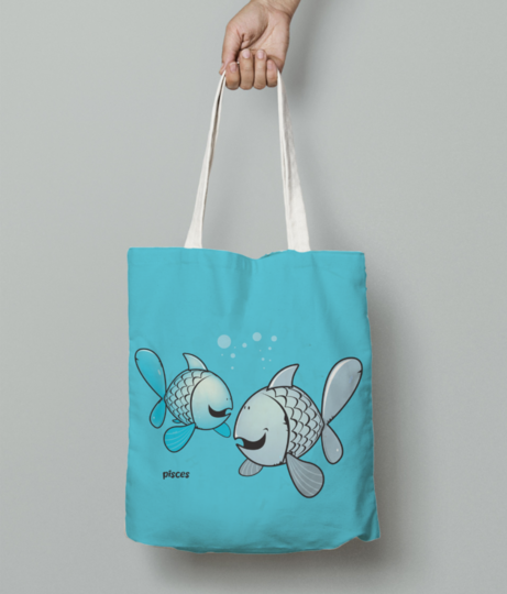 Pisces tote bag front