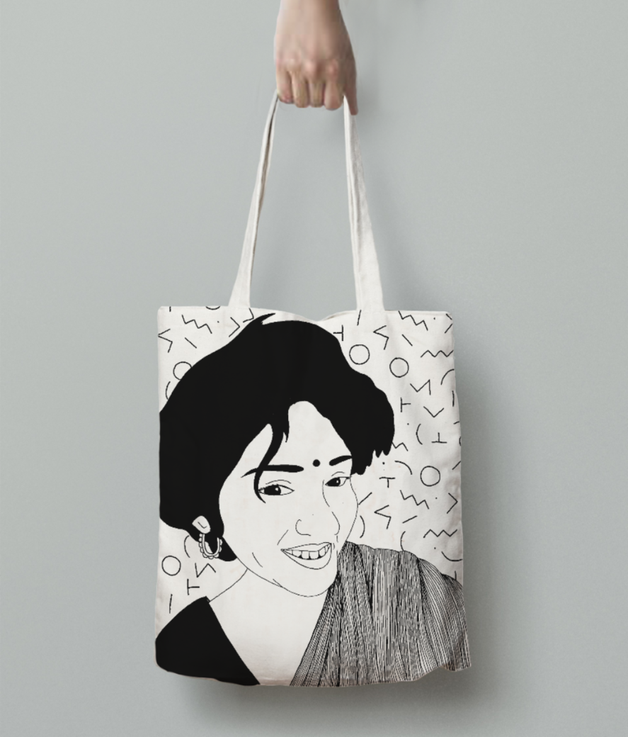 Radhika tote bag back