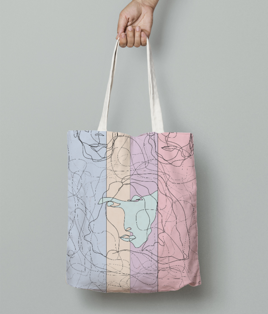 Untitled 5 tote bag front
