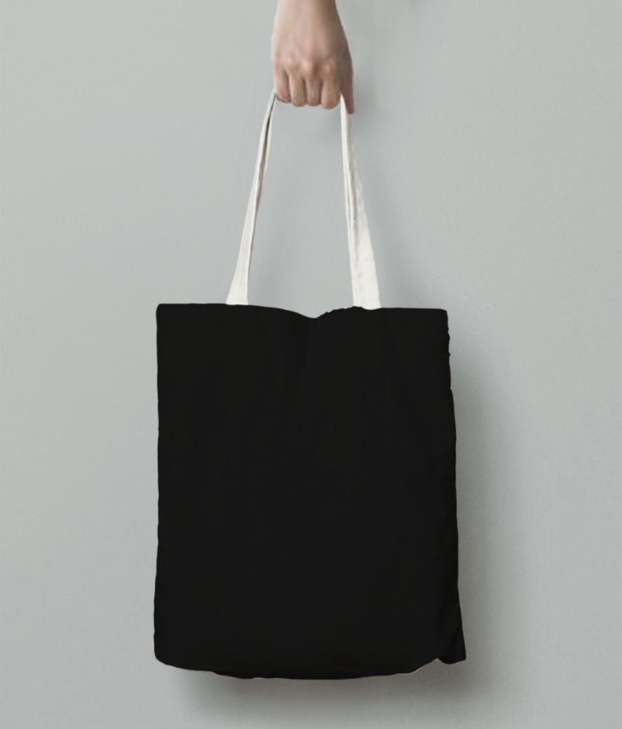 Edit knife tote bag back