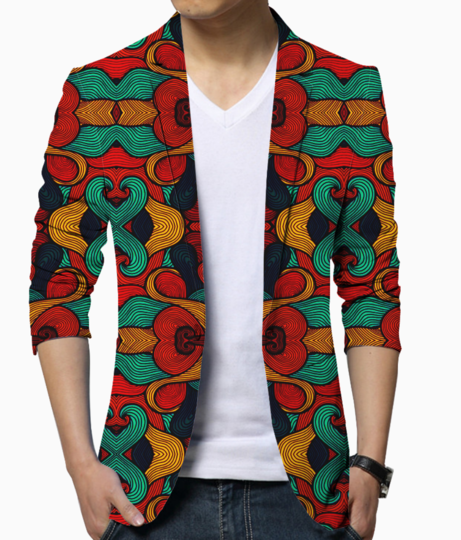 Psychedelic blazer front