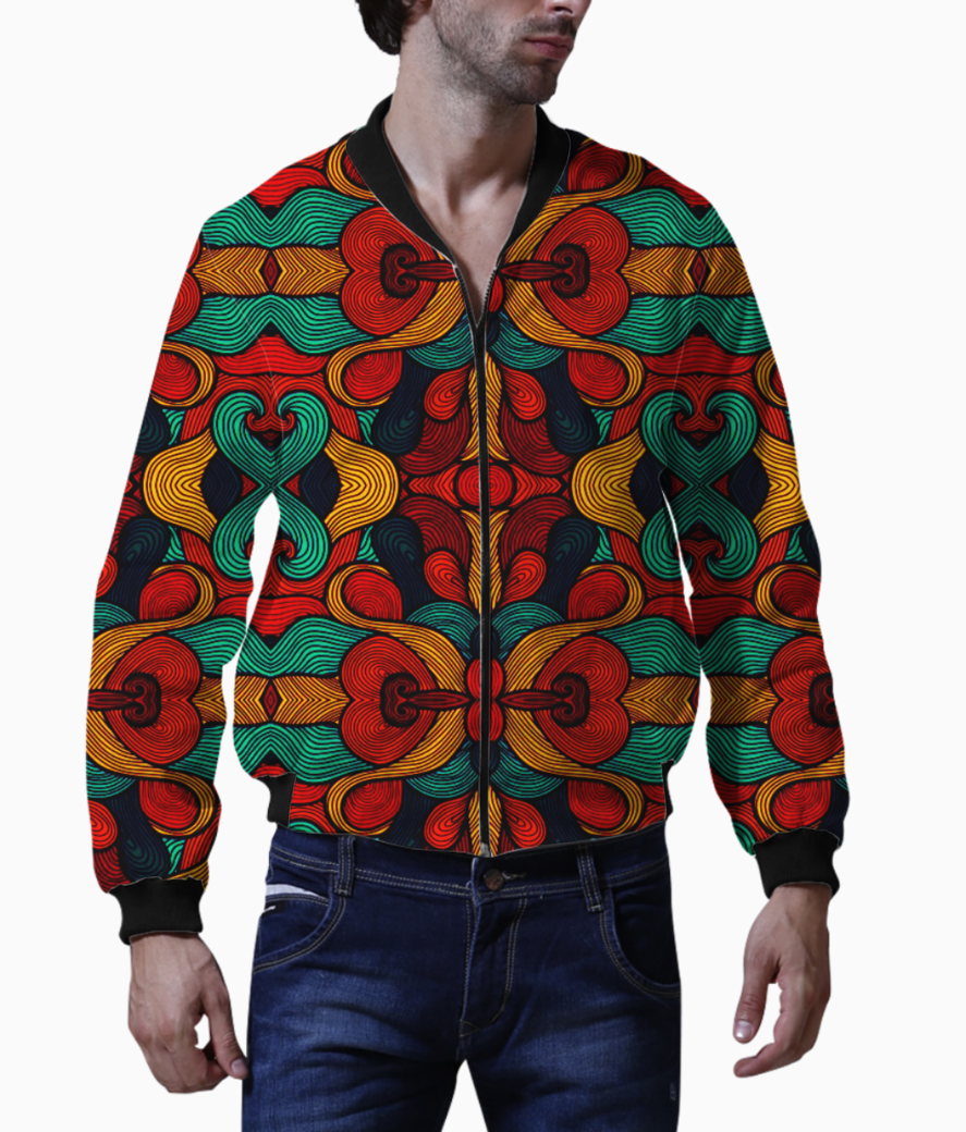 Psychedelic bomber front