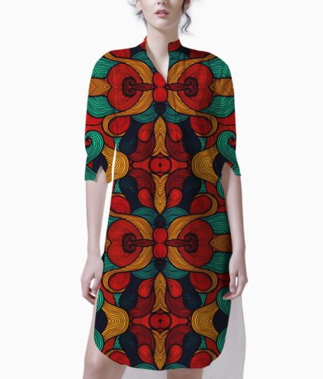 Psychedelic kurti front