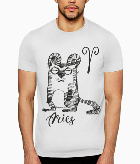 Aries t shirt front