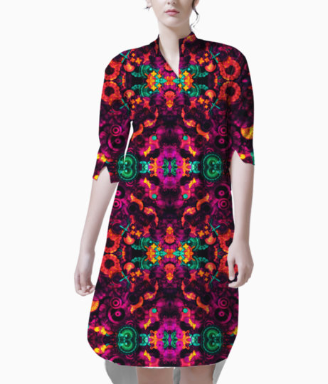Abstraction kurti front