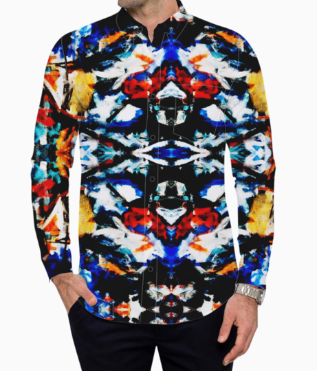 Abstract art basic shirt front