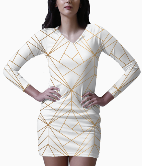 Patterns 22 bodycon dress front
