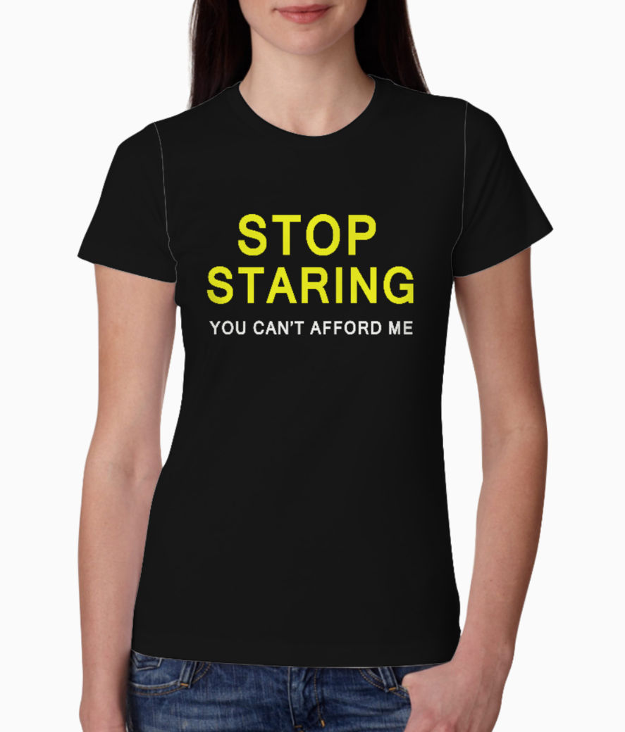 Cant afford tee front