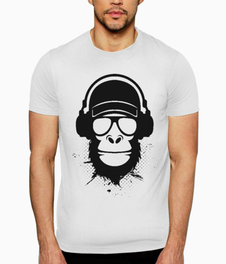 Cool dude monkey t shirt front