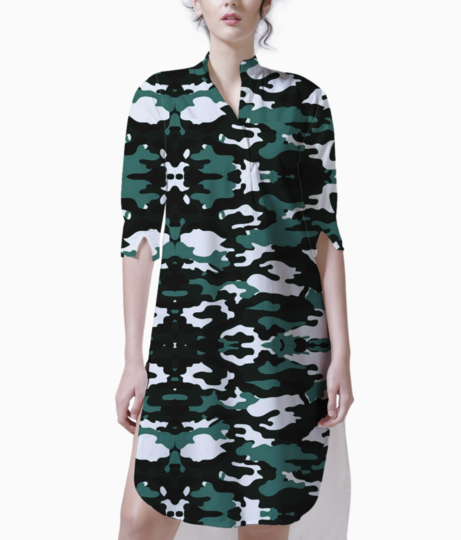 Abstract camo kurti front