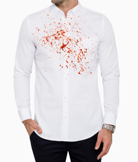 Blood basic shirt front