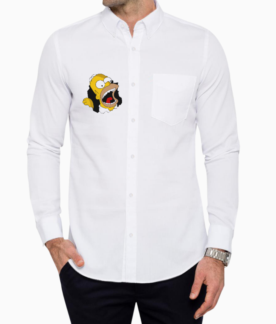 Homer white basic shirt front