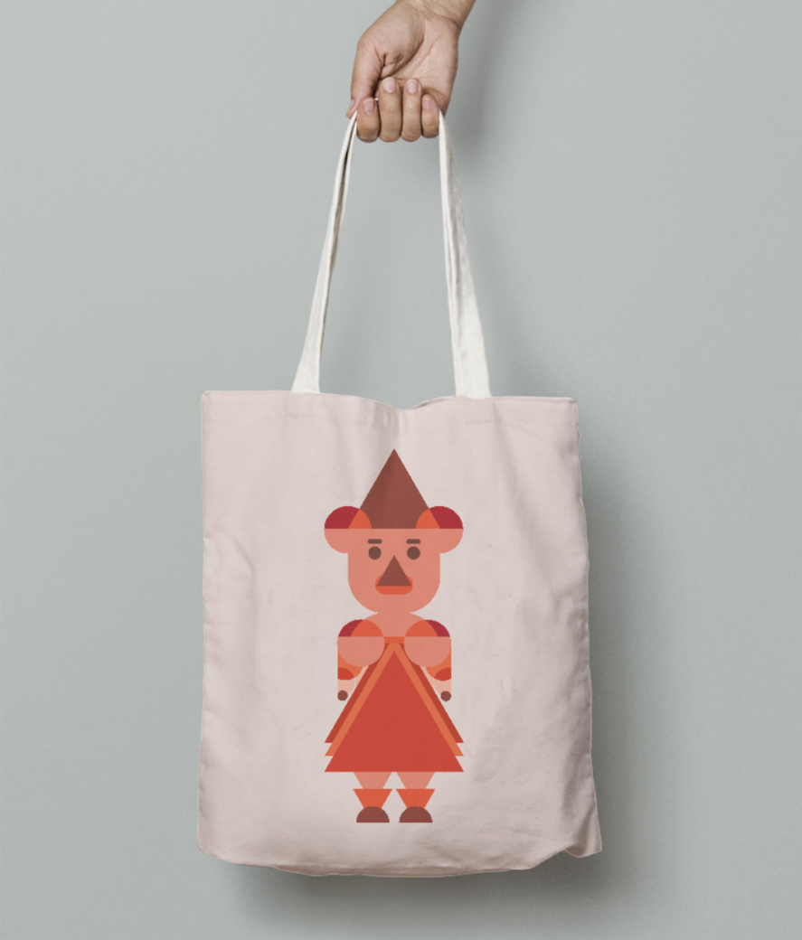 Abstract women tote bag front