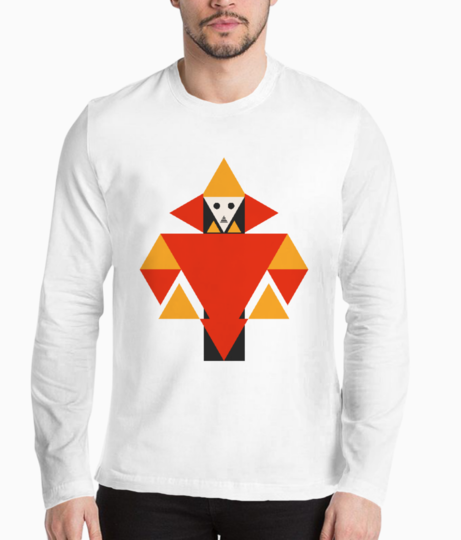 Triangle human henley front