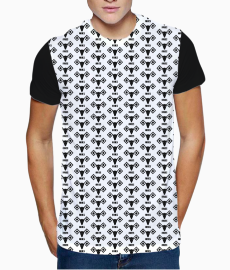 Aries astrology pattern t shirt front