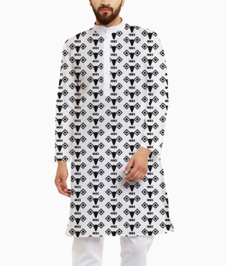 Aries astrology pattern kurta front