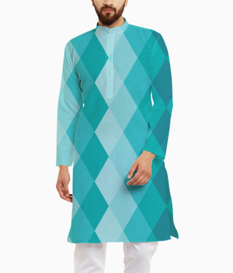 Ceramic tile pattern kurta front