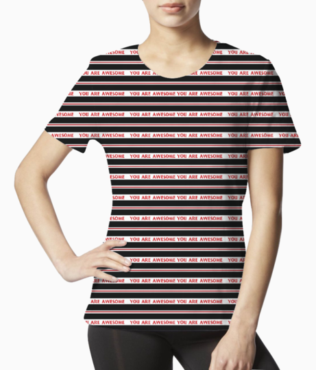 1 stripe tee front