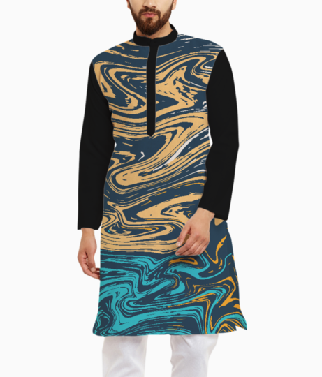 Marble effect kurta front