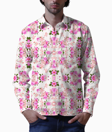 Beautiful rose basic shirt front