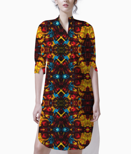 Upholstery psychedelic kurti front