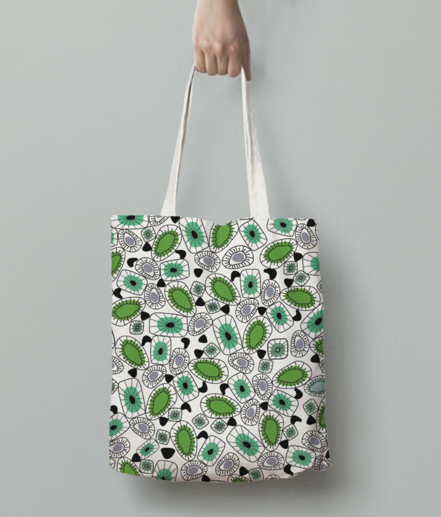 Oyester tote bag back