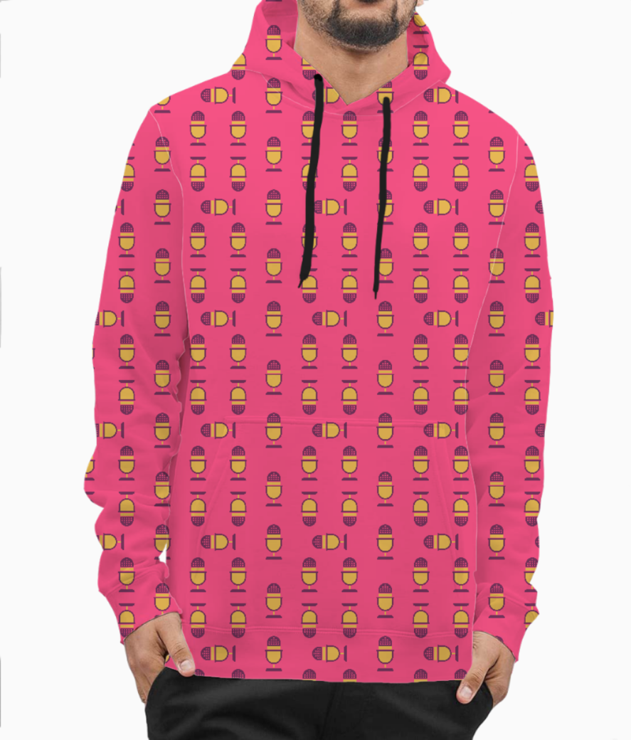 Microphone hoodie front