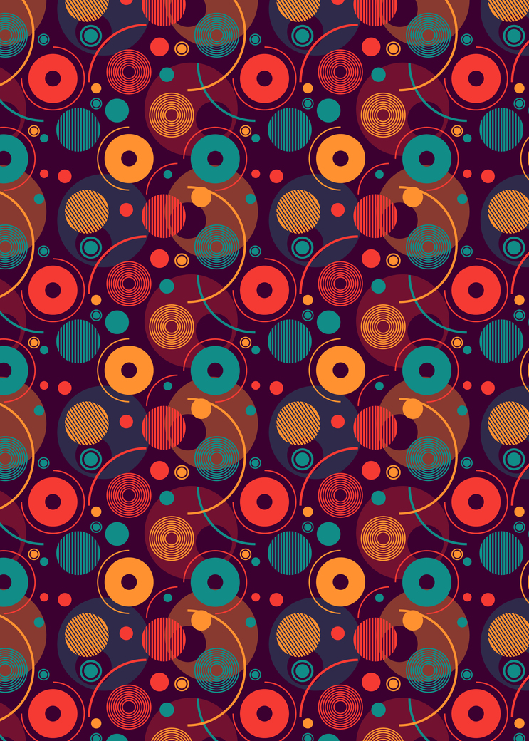 Colorful rounded shapes