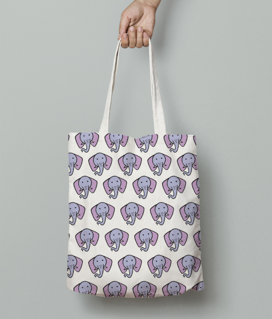 Elephant tote bag front