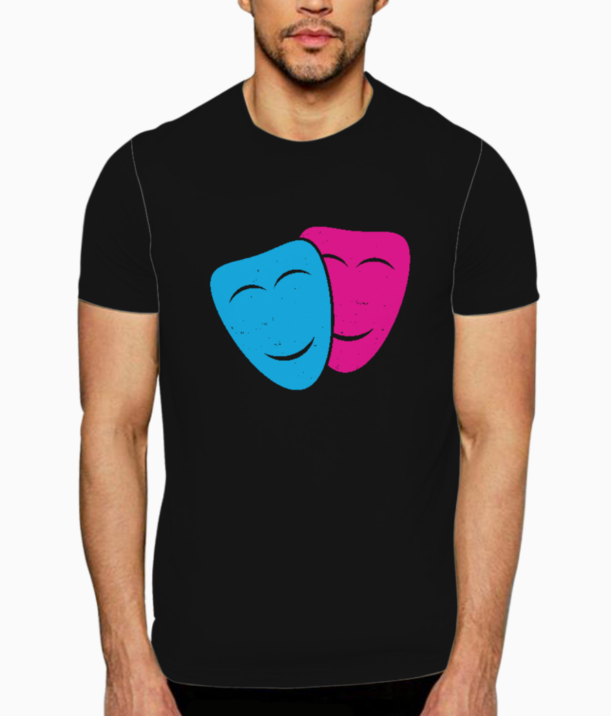 Theatre mask t shirt front
