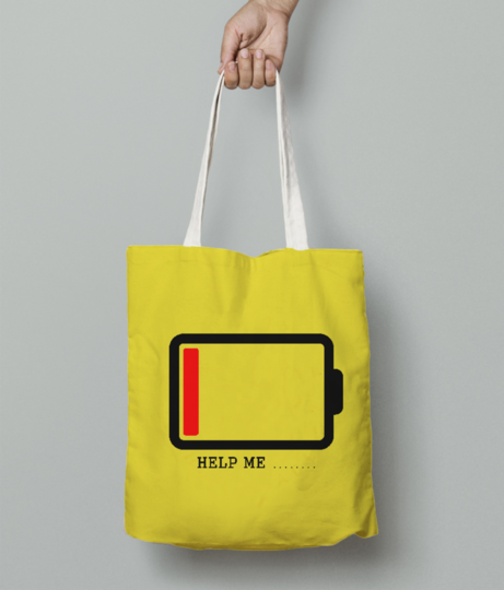 Help me tote bag front