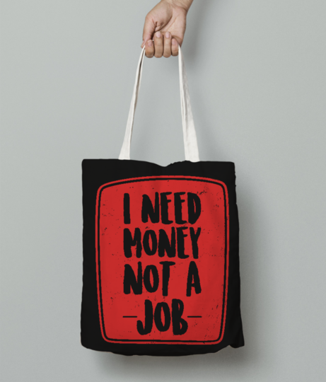 I need money tote bag front