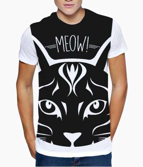 Meow t shirt front