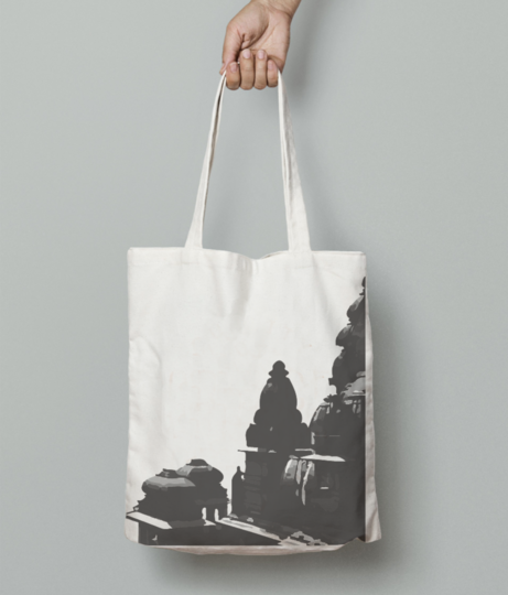 Architecture temple tote bag front