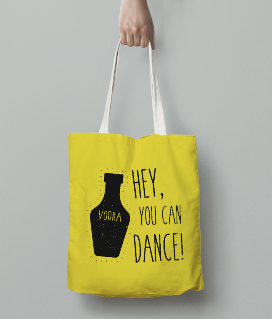 You can dance tote bag back