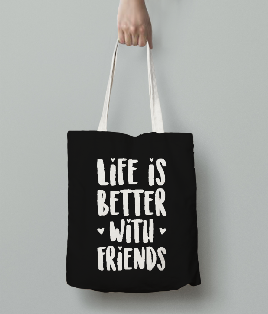 Better friends tote bag back