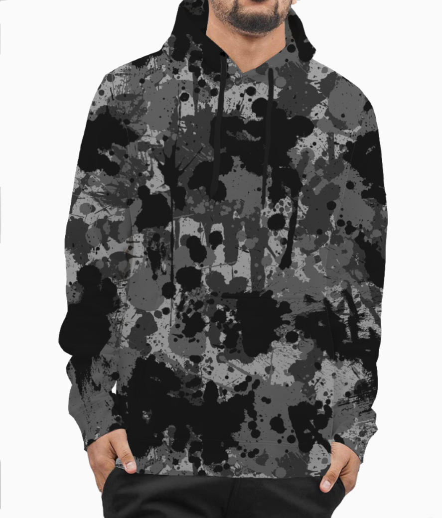 Ucly camo 01 hoodie front