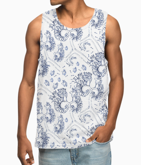 Freehand art flow vest front