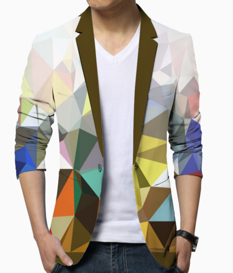 Colorful geometric blazer front