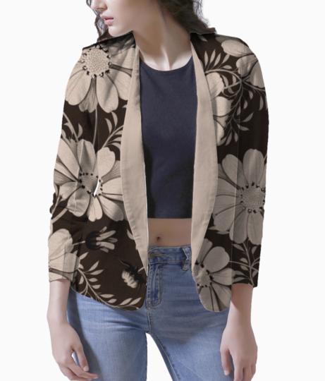 Autumn flowers blazer front