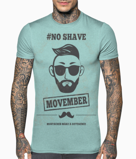 Movember no shave t shirt front