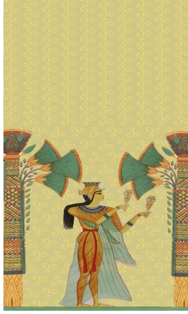 Egyptian lady with trees