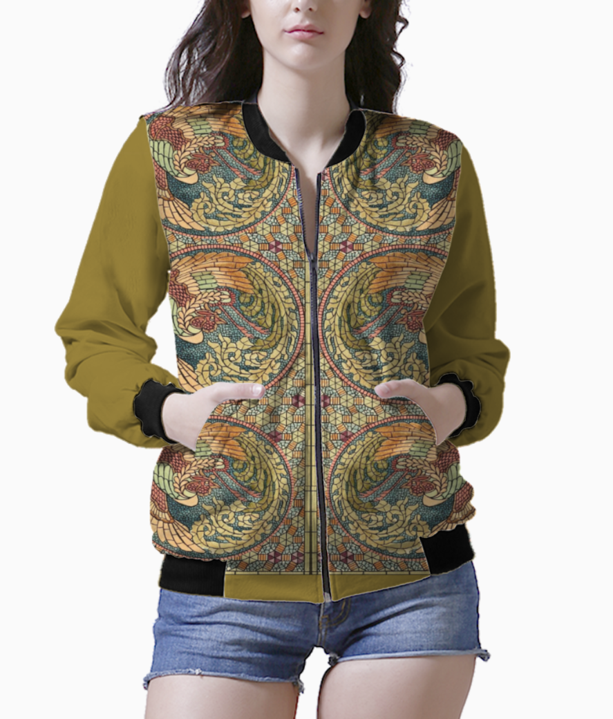 Stained glass wings1 bomber front