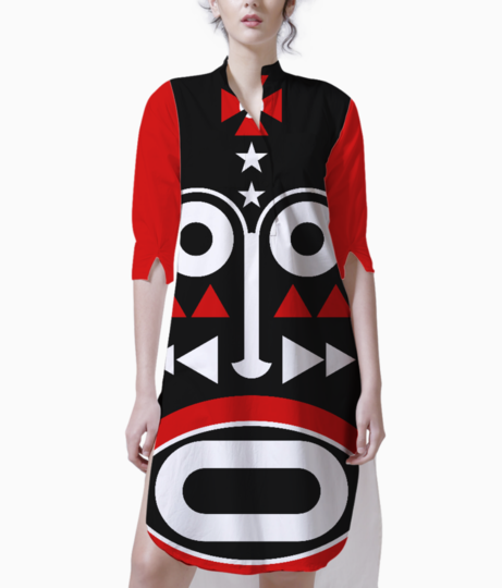 African monk mask kurti front
